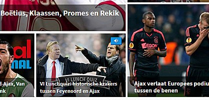 screenshot: voetbal international