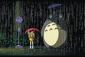 Blo nicht mit einem Pokemon verwechseln: Der Totoro (rechts) lsst&#xD;&#xA;Menschenkinder nicht allein im Regen stehen - und er wacht verlsslich&#xD;&#xA;ber die Werke seines Erfinders im Studio Ghibli.