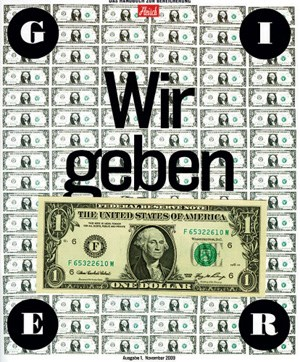 Das Cover zu &quot;Gier&quot;.