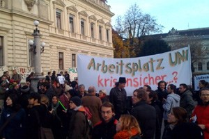 Demo-Start in Graz.