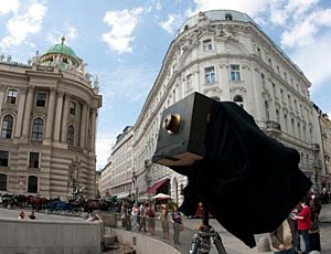 Die Daguerrotype-Schiebekastenkamera am MichaelerplatzFoto: Uni Wien - Institut fr Organische Chemie/WestLicht