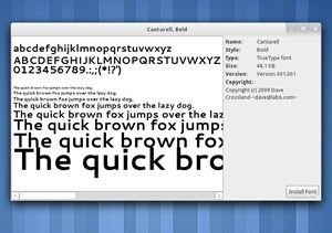 Der neue Desktop-Font Cantarell.