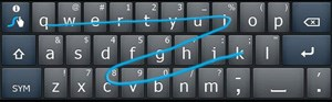 Swype verfolgt bei der virtuellen Tastatur einen alternativen Ansatz.