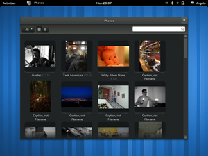 GNOME Photos derzeit nur als Mockups existieren.