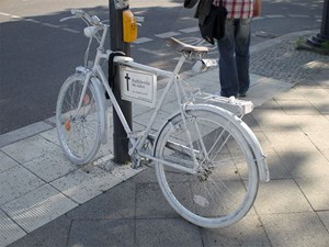 Ghostbike in Berlin.