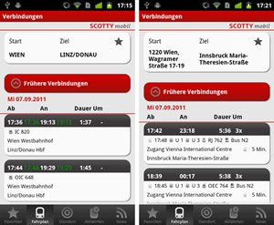 In der App kann man entweder gezielt eine Adresse oder einen allgemeinen Ortsnamen eingeben. 