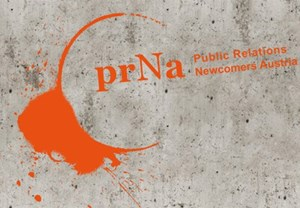 Das Logo von prNA, Public Relations Newcomers Austria