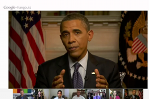 US-Prsident Barack Obama im Google+ Hangout