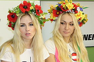 Femen-Kollegin Inna Schewtschenko.