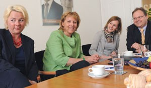Fanny Holzer-Luschnig (General Manager 25hours Hotel Wien), Linda Pokorny (General Manager Novotel Wien City), Judith Senoner (HR Falkensteiner Michaeler Tourism Group), Bernhard Botlik (Mercuri Urval). 