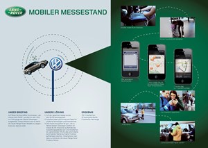 Goldgewinner: Mobiler Messestand fr Landrover.