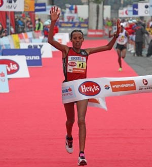 Marathon-Siegerin Fate Tola