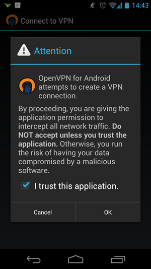 OpenVPN fr Android - jetzt ganz ohne Root-Rechte, Android 4.0 allerdings vorausgesetzt.