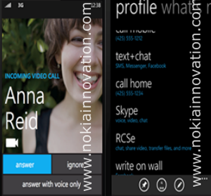 In Windows Phone 8 ist Skype integriert.