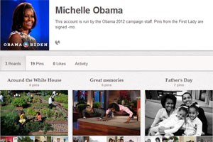 Michelle Obama postet private Fotos auf Pinterest.