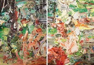 &quot;Ha Ha Fresh&quot; ist das Diptychon von Cecily Brown aus dem Jahr 2006 &#xD;&#xA;betitelt.