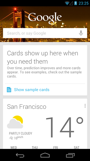 Google Now ist potentiell eines der Highlight von &quot;Jelly Bean&quot;, derzeit beschrnkt sich dessen tatschliche Ntzlichkeit aber noch auf einen sehr engen Bereich.