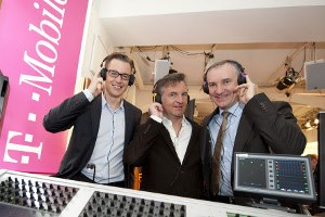 T-Mobile Marketing-Chef Thomas Kicker, Axel Dauchez, CEO Deezer und Robert Chvtal, CEO T-Mobile