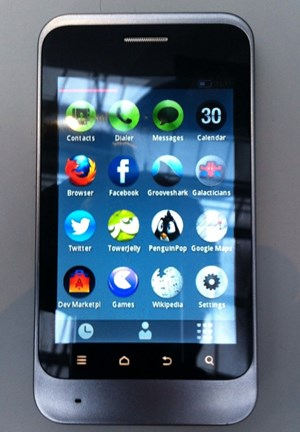 Ein Prototyp von Telefonica mit Mozillas Firefox OS.