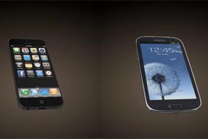 Das mgliche iPhone 5 im Vergleich zu Samsungs Galaxy SIII.