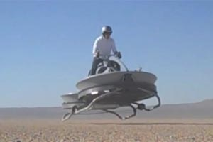 Das Hovercraft aus Kalifornien ist bereits wstentauglich.