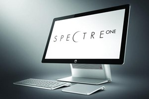 Kein Touchdisplay, dafr wird dem Spectre One ein drahtloses Trackpad beigelegt.
