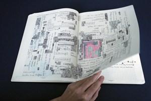 Visualisierte Nachdenkprozesse und Satzfragmente von Ricarda Denzer: ' Aufzeichnungen 2006-2012'.