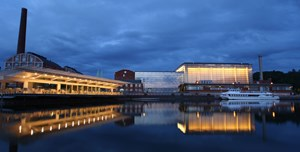 Die Sibelius Hall in Lahti von auen.