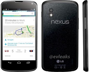 Das (vermeintliche) Presse-Rendering des LG Nexus 4.
