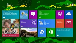 "Das neu gestaltete Startmenü mit der ""Windows 8 UI"" (formerly known as ""Metro"")."