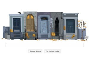 Interaktives Google-Doodle zu Halloween