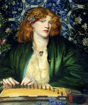 Dante Gabriel Rossetti, The Blue Bower 1865