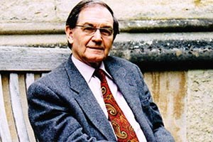 "Sir Roger Penrose vom Mathematical Institute der University of Oxford spricht am 30. November über ""Dark Energy, Dark Matter, and Black Holes, as Essential Ingredients of a New Cyclic Theory of the Universe""."
