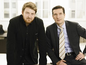 Aufgestiegen: Creative Director Patrik Partl und Client Service Director Robert Steininger.