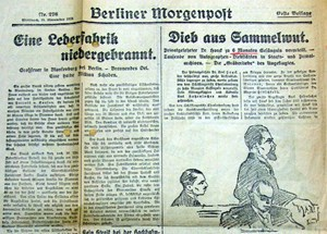 Die Berliner Morgenpost vom 18. November 1925 widmete dem Archivalienfetischisten&amp;nbsp; &#xD;&#xA;Karl Hauck einen ausfhrlichen Bericht.