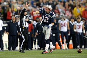 Prgel von Brady: Houston wurde im Monday Night Game vom New England Patriots Express berrollt.