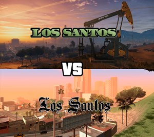"""Grand Theft Auto 5"" vs. ""Grand Theft Auto: San Andreas"""