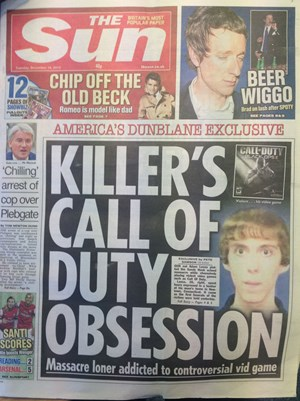 The Sun titelt mit &quot;KILLER'S CALL OF DUTY OBSESSION&quot;