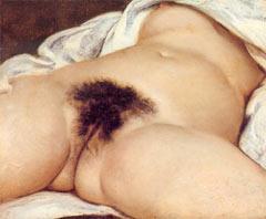 """Und das Original von Courbet: """"Der Ursprung der Welt"""""""