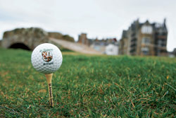 "Ball am ""The Old Course""."