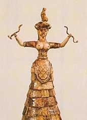 Schlangengöttin aus Kreta