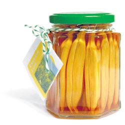 Ganz speziell schmecken die Blüten zum fetten Schmelz von Lardo oder Goderspeck.