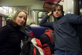 Eva und Gerald nach zwei Monaten wieder in Wien.
