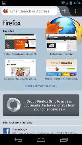 Firefox steht in Version 14 für Android zum Download bereit.