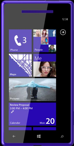 Größere Version: Das Rendering des Dualcore-Handys.