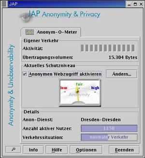 Anonym durchs Netz