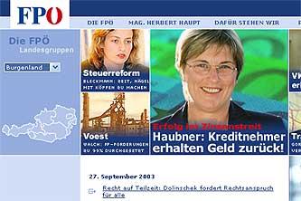 FP-Homepage vom 29.09.2003 11:15