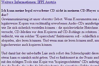 Grafik: Die veränderte IFPi-Homepage