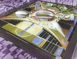 ... geplantes Nanjing Olympic Sports entre, HOK....