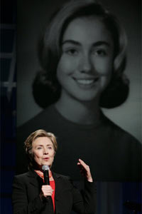 Hillary Clinton now and then